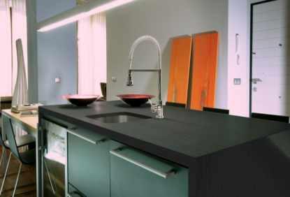 plan de travail et cr dence en dekton. Black Bedroom Furniture Sets. Home Design Ideas
